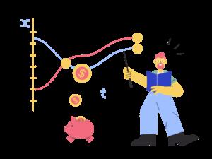 consultor analisando resultados financeiros